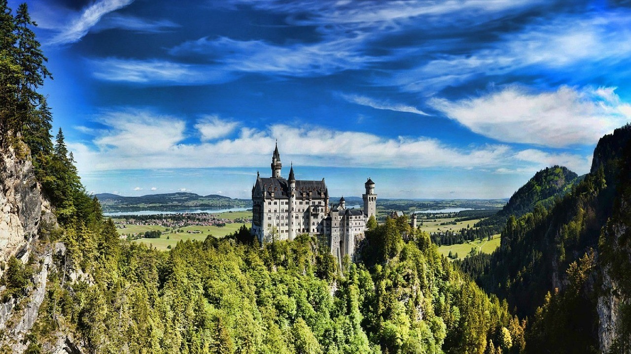 Neuschwanstein, perto de Munique