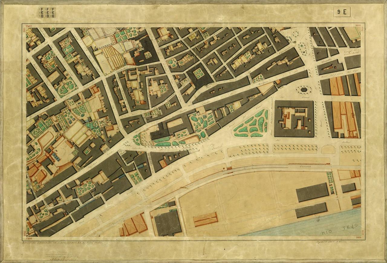 Planta Topográfica de Lisboa 9 E, 1911, de Albert