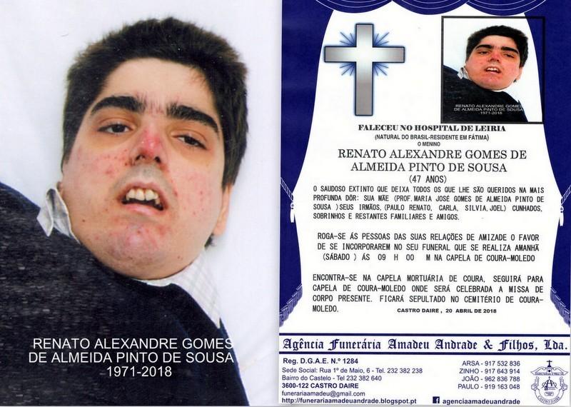 FOTO RIP DE RENATO ALEXANDRE GOMES DE ALMEIDA PINT