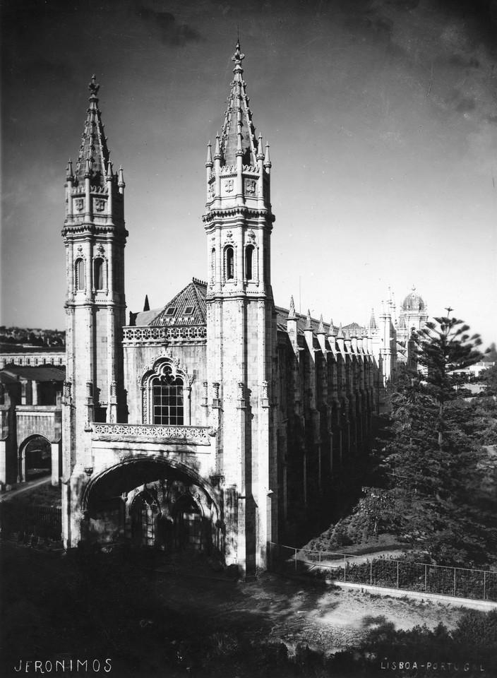 Mosteiro dos Jerónimos, 1940, foto de Manuel Tava