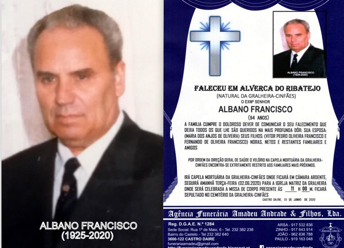 FOTO RIP  DE ALBANO FRANCISCO-94 ANOS (GRALHEIRA-C