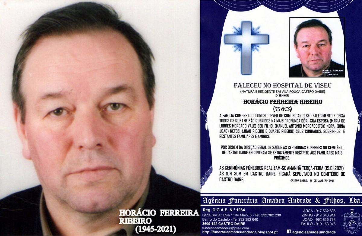 FOTO RIP  DE HORÁCIIO FERREIRA RIBEIRO-75 ANOS (V