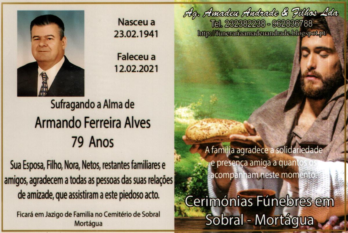 CARTÃO DE AGRADECIMENTO DE ARMANDO FERREIRA ALVES