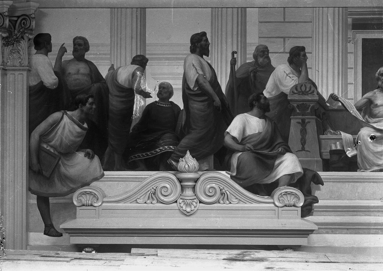 Hipócrates - fragmento da pintura mural de Veloso