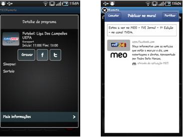 Meo Remote para iPhone, iPAD e terminais Android - Novas funcionalidades  (Actualização)