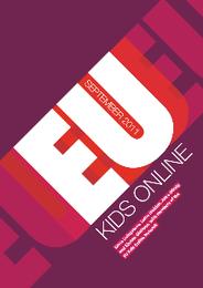 Capa do relatório final 'EuKidsOnline - Semtember 2011'