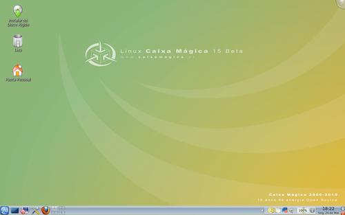 Ambiente de Trabalho KDE4 em Linux Caixa Mágica 15 Beta