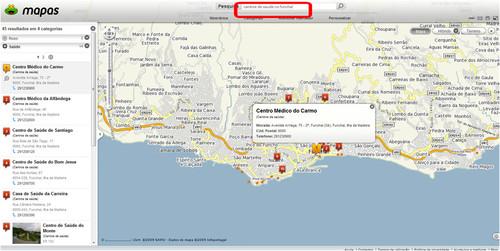 Pesquisa SAPO Mapas
