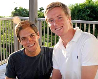Sean Eldridge e Chris Hughes, co-fundador do Facebook
