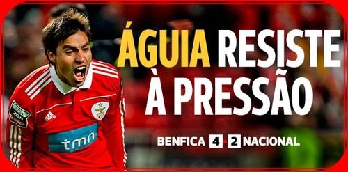 Resumo Benfica Nacional: Benfica Vence (4-2) Nacional E Resiste à Pressão