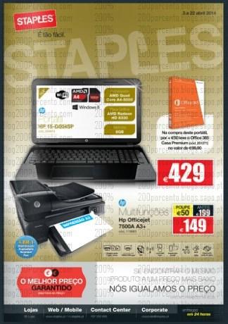 Novo folheto   STAPLES   de 3 a 22 abril - Tecnologia
