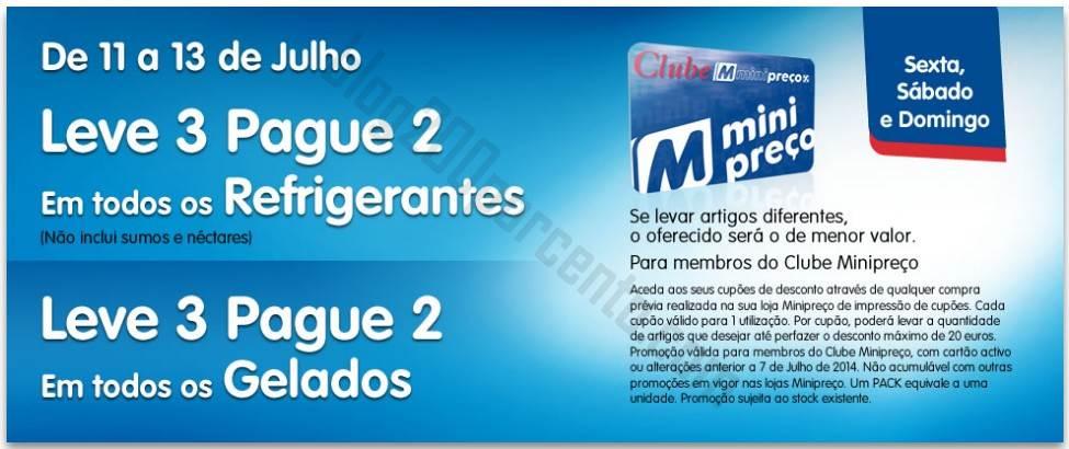Leve 3 Pague 2 MINIPREÇO de 11 a 13 julho - Gelados e Refrigerantes