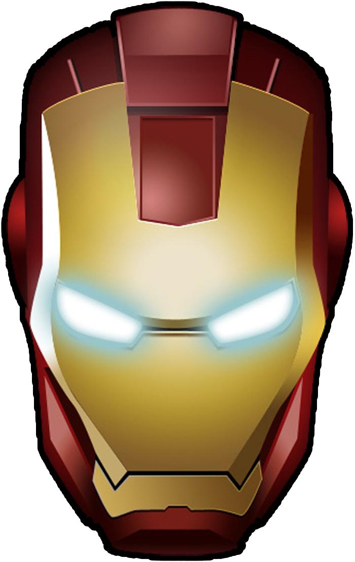 Mascara do Iron Man - Homem de Ferro Carnaval Mascaras de Super Herois