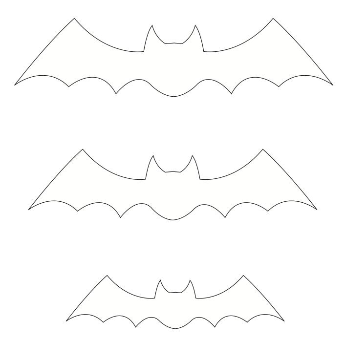 Moldes De Morcegos Para Halloween   Figuras Para Recortar E Decorar