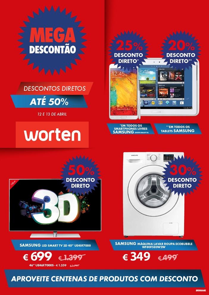 Antevisão folheto   WORTEN   Megadescontão de 12 a 13 abril