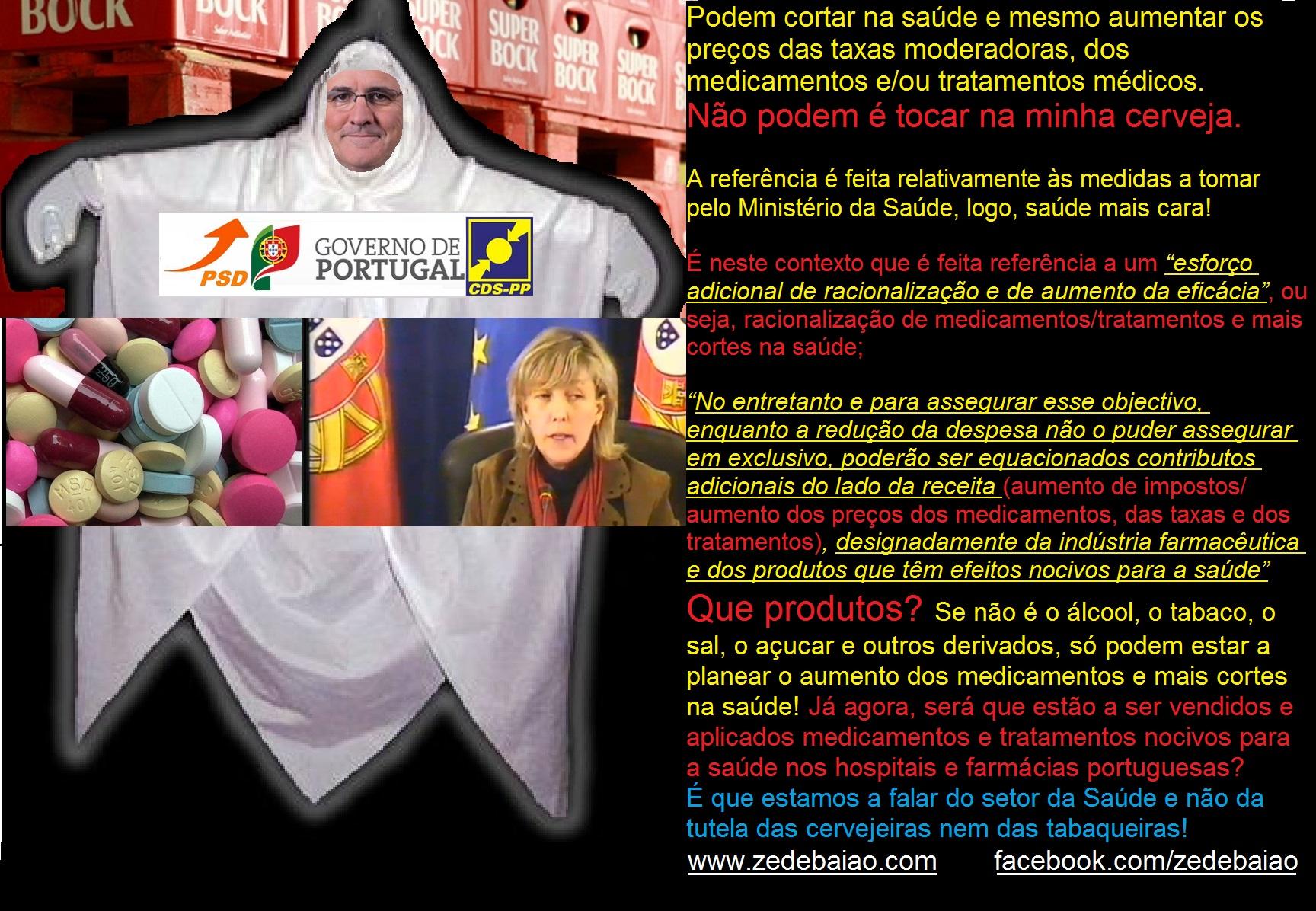 Saúde, impostos fantasma Pires de Lima Ministro da Economia Ministra das Finanças, aumento dos medicamentos e produtos nocivos para a saúde