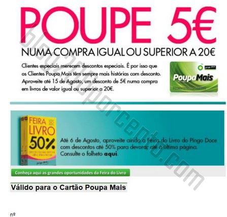 Desconto de 5€ em 20€ PINGO DOCE Livros, até 15 agosto