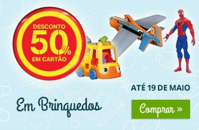 50% de desconto | CONTINENTE | Brinquedos - Dia da Criança
