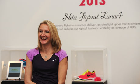 Paula Radcliffe at the Nike Flyknit Experience at Somerset House
