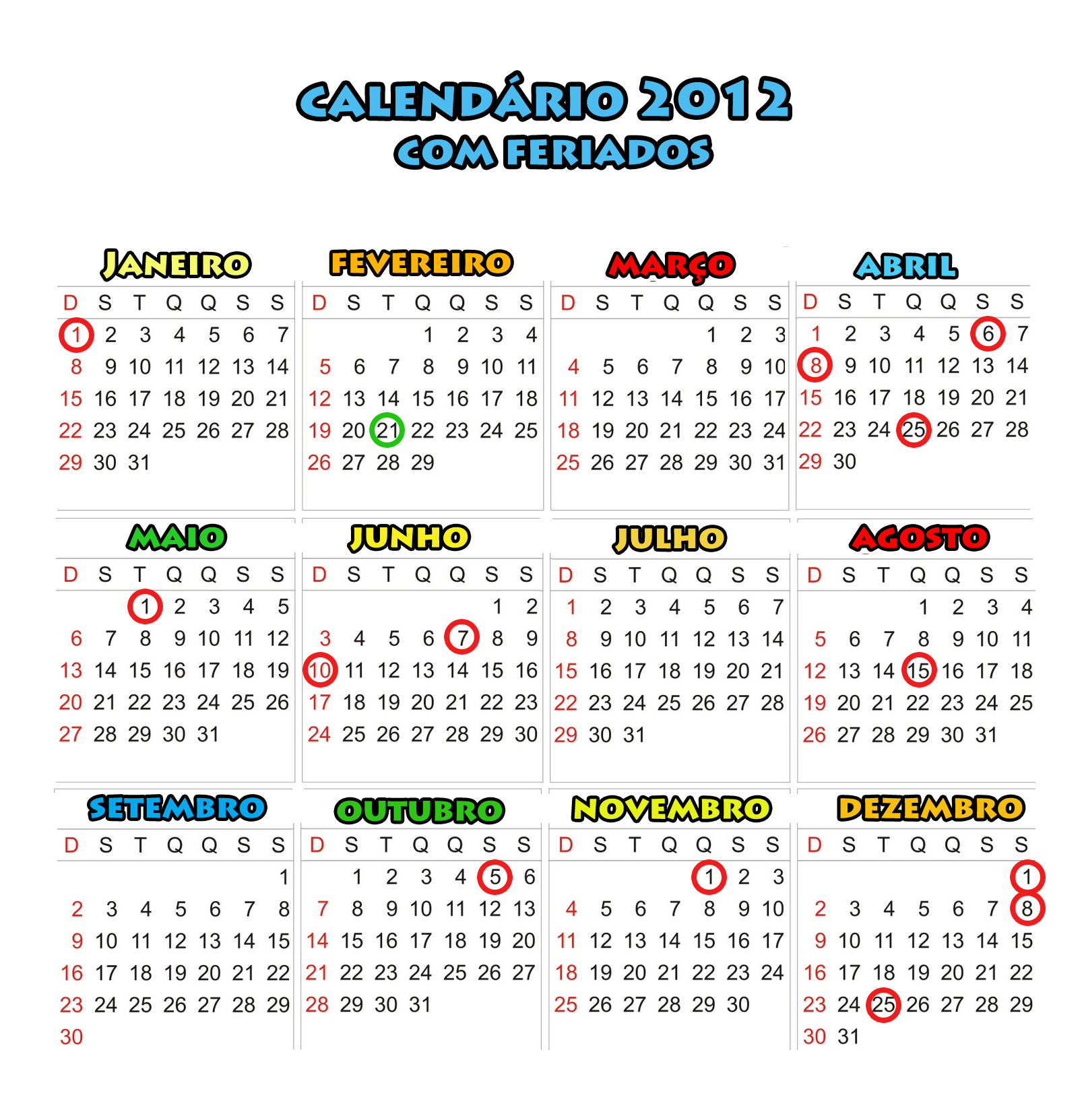 Calendarios Mensais  Anuais  O Kitty E De Bolso  Calendario 2012