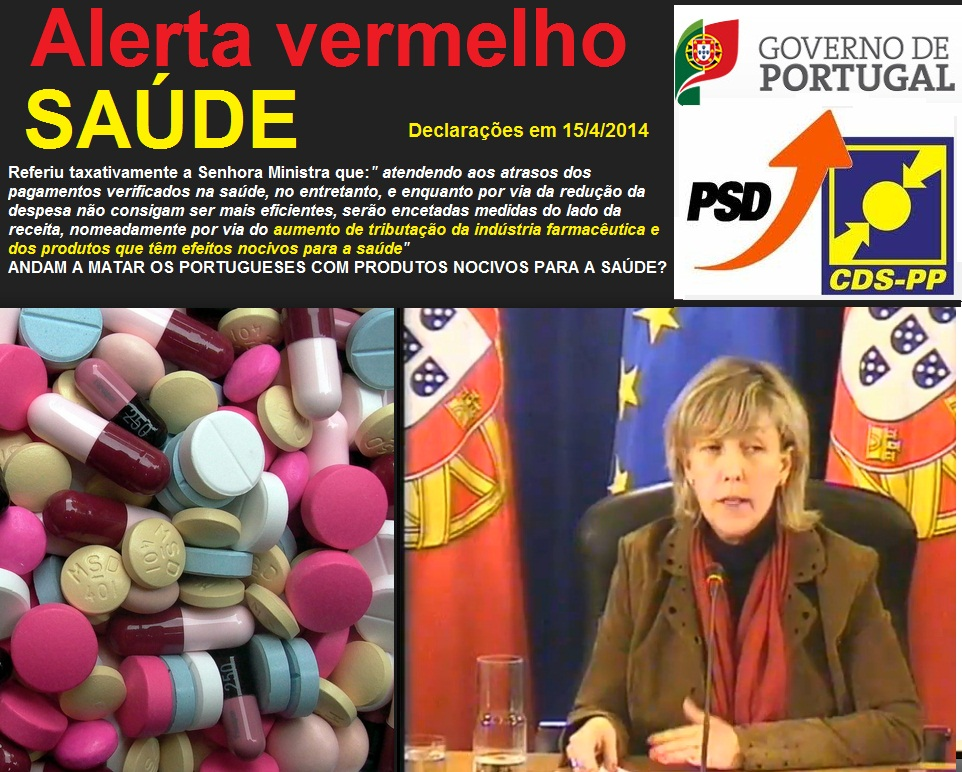 ministra das finanças Luísa Albuquerque e comunicação do conselho de ministros de 15 de abril de 2014