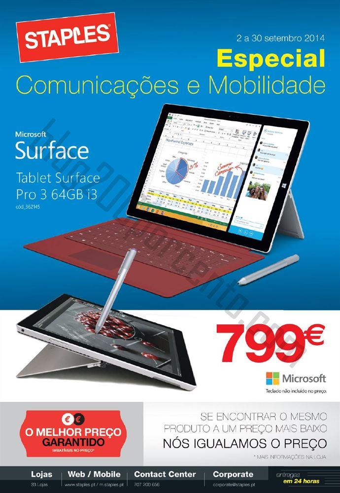 Novo Folheto STAPLES Especial Comunicações e Mobilidade até 30 setembro