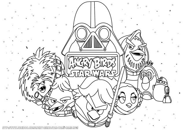 Desenhos Para Imprimir Do Angry Birds: Desenhos Dos Angry Birds Star Wars Para Colorir E Imprimir