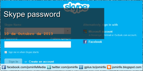 Blog Post: Como recuperar a palavra-passe da sua conta Skype [en] How to recover the password to your Skype account