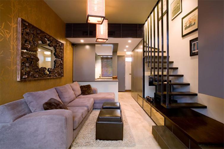 decoracao interiores escadasEscada interior com degraus em madeira e